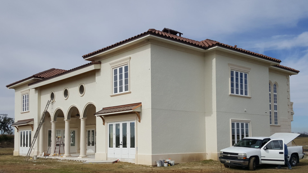 Custom Home with stucco and precast - Ocala, Florida