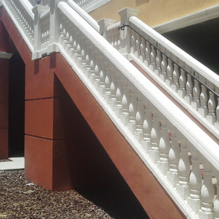 Balusters in architectural foam or precast concrete