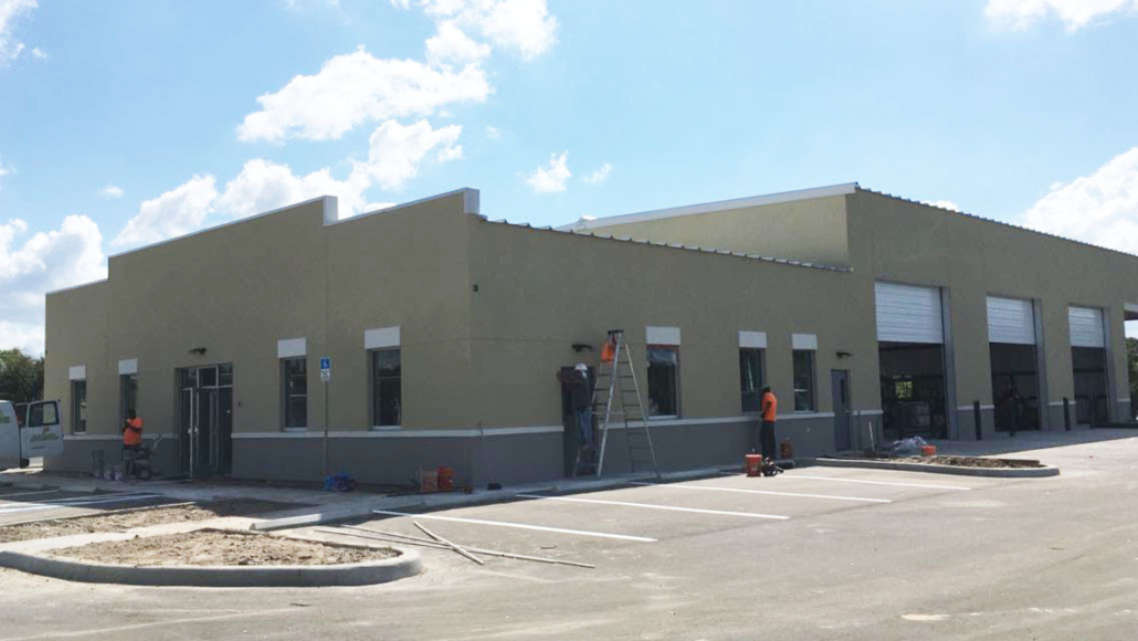 EIFS over metal building